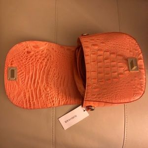 NWT ORANGE BRAHIM PURSE.